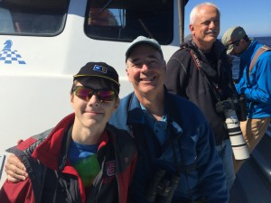 Sneed and Braden on our first pelagic birding cruise out of Monterey, CA.